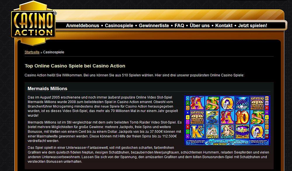 Casino action spielen sie unser 1250 freispiel gratis