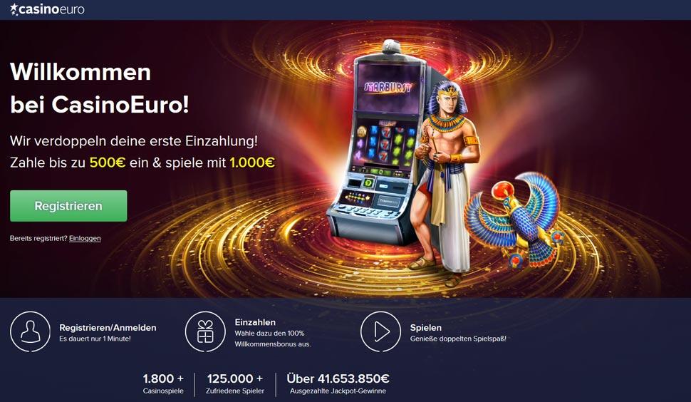 CasinoEuro Bonus Start