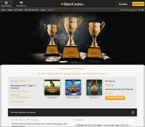 Intercasino Vorschau Turniere