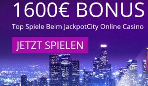 Jackpot City Casino Bonus - 1.600€