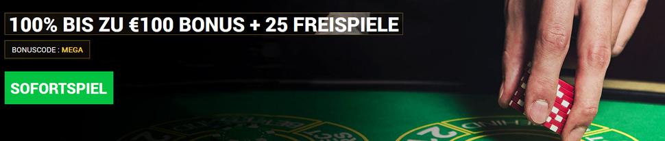 Online Casino 100 Euro Bonus