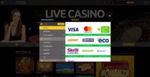 Mega Casino Zahlungsmethoden