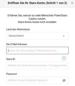 Pokerstars Registrierung