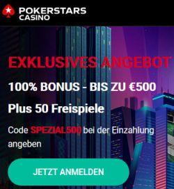 PokerStarsCasino Angebot SPEZIAL500