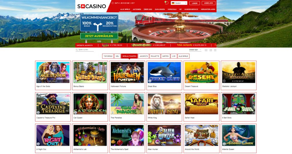 Swiss Casino Vorschau