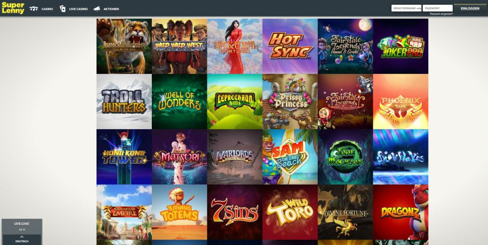 Superlenny Casino Spiele Vorschau