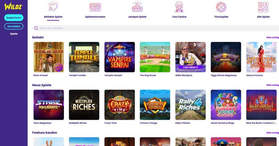 Wildz Casino Startseite