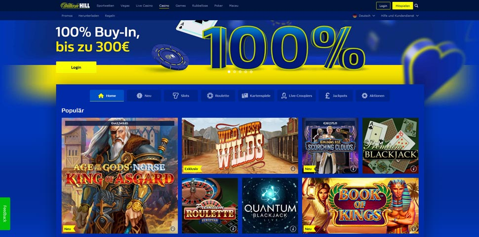 William Hill Casino Vorschau