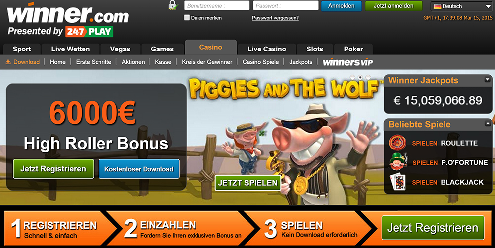 winner casino 30 euro bonus